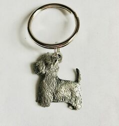 Fine Pewter West Highland White Terrier Westie Dog Puppy Keychain