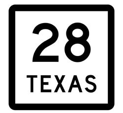 Texas State Highway 28 Sticker R4499 Highway Sign Road Sign Decal