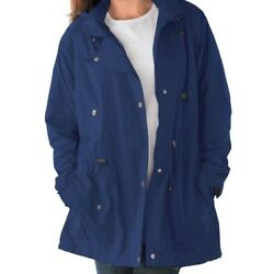Women's Dark Blue Lined Coat Jacket Size 2x 26w 28w 3x 30w 32w