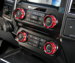 Inner Dashboard Air Conditioner Switch Cover Trim 4pcs For Ford Expedition 2018