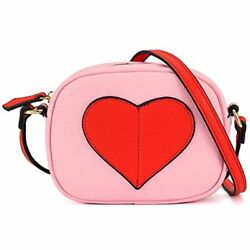Mini Heart Shape Purse And Handbags For Little Girls Cross Body Red heart-pink