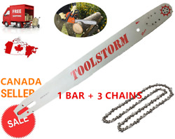 Toolstorm Pro Chainsaw Bar And Chain 3x 24 3/8 .063 84dl Stihl Ms660 Ms390