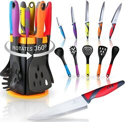 HULLR All In One Kitchen Utensils Knives Set For RV - 11 Piece Cooking Tools