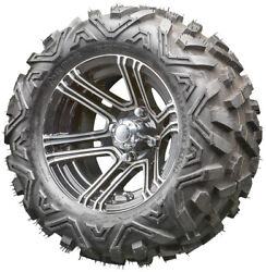 12 Rhox Rx360 Machined Golf Cart Wheels And All Terrain Tires Combo Set Of 4