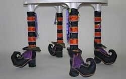 Katherineand039s Collection Set Of 4 Halloween Witch Table Leg Sleeves New 14-814226