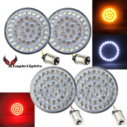 Eagle Lights 2andrdquo Led Harley Turn Signal Kit Front/rear 1157/1156r Smoked Lenses