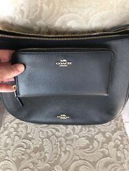 NWT COACH 58036 Chelsea 32 Pebbled Leather Hobo Crossbody & Wallet F16612