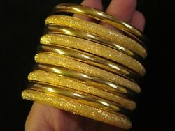 2 Bracelet Bangle Anniversary Mothers Day Gift Womenandrsquos Yellow 22k Solid Gold