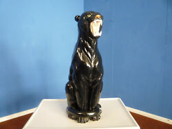 Italy Cat Black Panther Terracotta 1960s