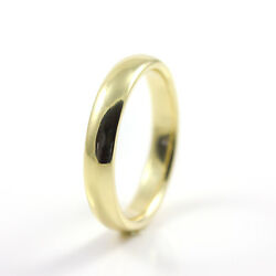 4mm Wedding Band - 14k Gold Comfort-fit Band Half-round - Size 4-10