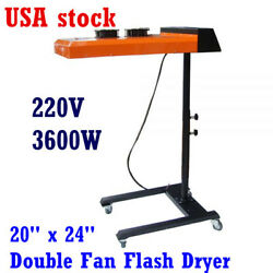 Double Fan Temperature Controller 20 x 24 inch Flash Dryer (220V 3600W)-US stock