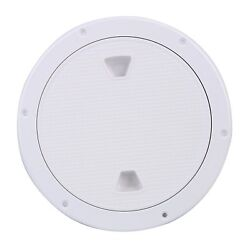 9.84 Marine Boat Inspection Hatch Rv Round White Deck Plate Access Cover