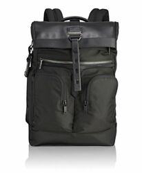 NEW IN BOX Tumi Men's Alpha Bravo London Roll-Top Backpack Black