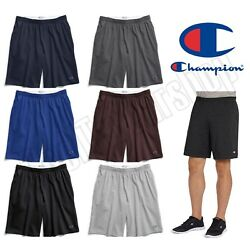 NEW Authentic Champion Men#x27;s Cotton Shorts with Pockets 9 inches Inseam $14.95