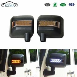 Pair Led Turn Signal Arrow lights with Integrated Indicator RearView Mirrors dx1