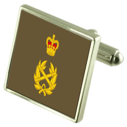Army Insignia Rank Lieutenant Colonel Sterling Silver Cufflinks Engraved Box