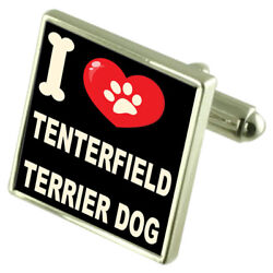 Silver 925 Cufflinks & Bond Money Clip - I Love Tenterfield Terrier