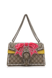 Gucci Dionysus Small Shoulder Bag (Beige Prints; Suede Coated Canvas)