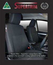 Front + Rear Seat Cover Fit Toyota Hilux Sep 2015-now Neoprene Waterproof