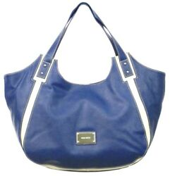 Nine West Designer Bags Alyson Tote Navy Cream $28.00