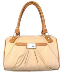 Nine West Designer Bags Clockwork Medium Satchel Light Tan Cognac $22.00