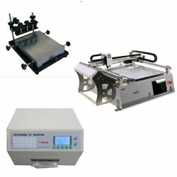 Small budget smt prototype line, pick and place robot, solder printer, oven-J