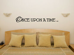 Once Upon A Time Fairytale Childrenand039s Bedroom Decal Wall Art Sticker Picture