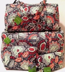 Vera Bradley NOMADIC FLORAL SMALL & LARGE DUFFEL and COSMETIC SET Bag Travel NWT