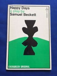 Happy Days. A Play In Two Acts - First American Edition By Samuel Beckett