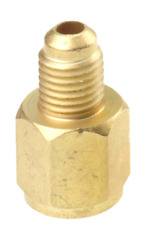 Refrigerant Tank Adapter Connects R12 Hose to R134A 12