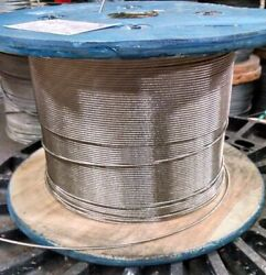 1/4 Stainless Steel Cable Railing Wire Rope 1x19 Type 316 2000 Feet