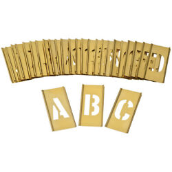 CH Hansen BRASS INTERLOCKING STENCIL SET A-Z 33Pcs 50mm, 75mm Or 100mm USA Made