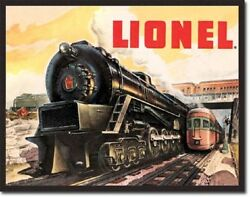 Lionel Trains Tin Sign Garage Wall Poster Decor
