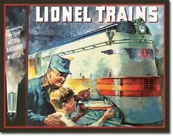 Lionel Trains 1935 Cover Tin Sign Garage Wall Poster Decor