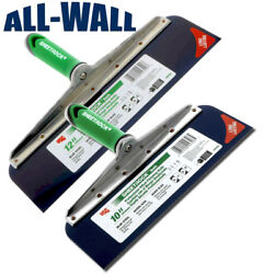 Usg Sheetrock Drywall Offset Taping Knife Combo - 10 And 12 Blue Steel, Riveted