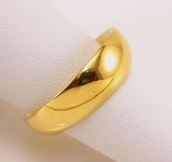 Hand Made 18 Yellow Gold Band Ring Wedding Party Anniversary Unisex Band Gift