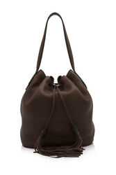 Pre-Owned Gucci Leather Bucket Bag (Brown; Leather)