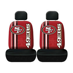 New Football San Francisco 49ers Seat Covers Universal For Cars Suvs - 4 Pc
