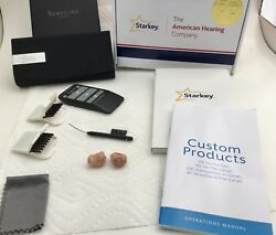 Starkey Muse I2400 Itc Hearing Aids W/ Remote New Condition Pair Landr