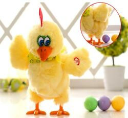 Funny Doll Toy For Children Electric Musical Dancing Chicken Hens Laying Eggs