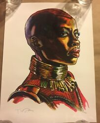 SHINY OBJECT prints by artist Tim Doyle Don't Freeze Black Panther Giclee S N C