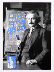 Happy Birthday Einstein Blue By Mr. Brainwash Only 30 Made -signed-sold Out