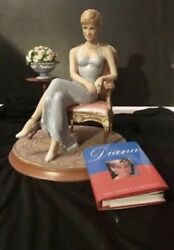 Franklin Mint Princess Diana Porcelain Sitting In Chair Forever Diana E1122