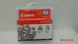 Genuine Canon Bci-24 Multi-pack Ink Cartridges, 6881a039ab Free Shipping