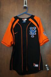 Ny Mets Nike Team Genuine Merchandise Delgado 21 Button Down Jersey Size M