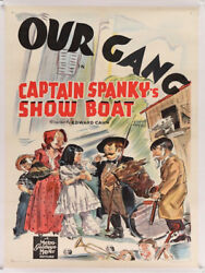 Our Gang In Captain Spanky's Show Boat Vintage Movie Poster 1939