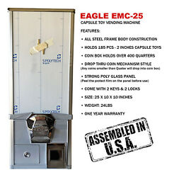 Eagle Cabinet 25 Inches 50andcent Capsule Toy Vending Machine New One Year Warranty