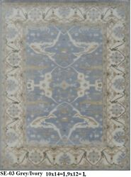 Indian Hand Knotted 10x14 300x430 Persian Oushak Oriental Area Rug Wool Carpet