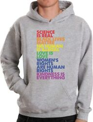 Science Is Real Black Lives Matter Love Is Love Equality Hoodie Gift Idea