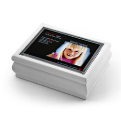 4 X 6 White Lacquer Photo Frame Music Box With New Pop-out Lens System
